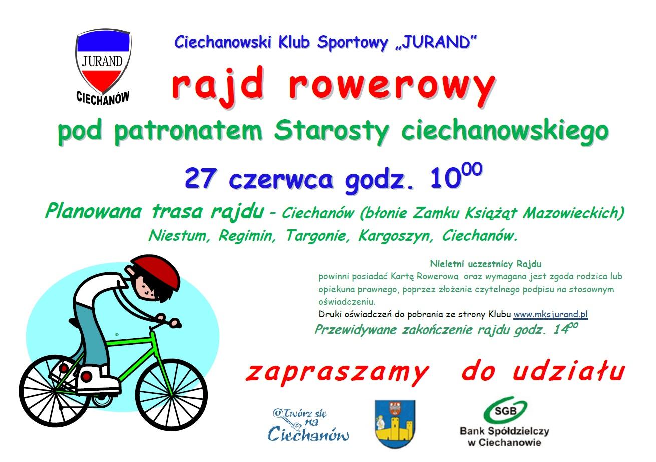 Plakat - Rajd rowerowy 2015